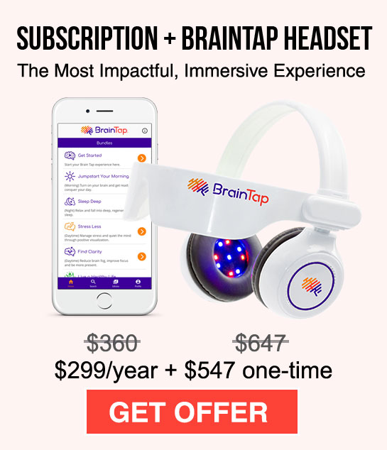 Monthly subscription and the BrainTap Headset