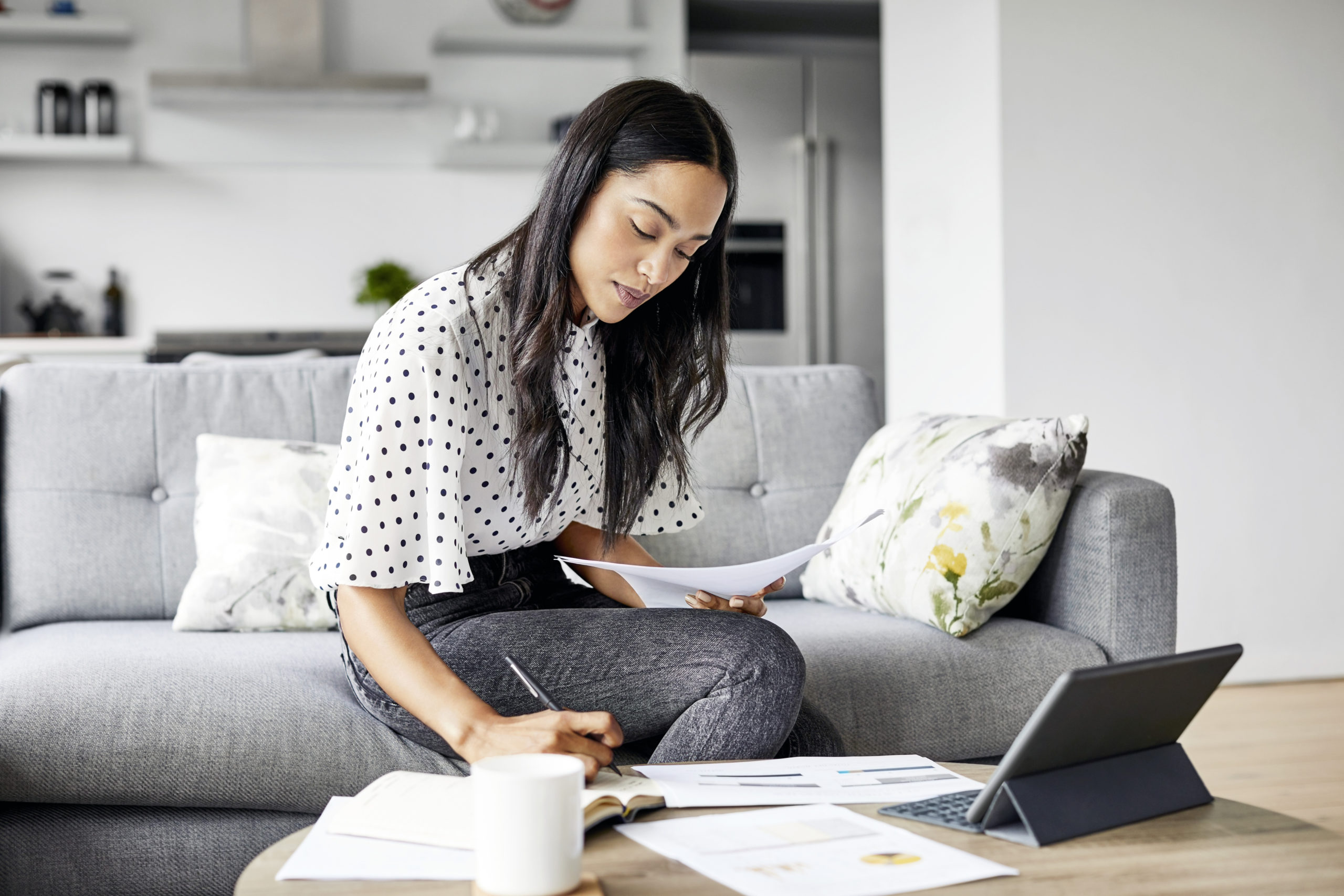 Woman practicing self-care by planning
